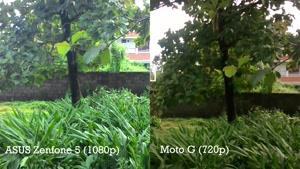 مقایسه دوربین ASUS Zenfone ۵ vs Moto G