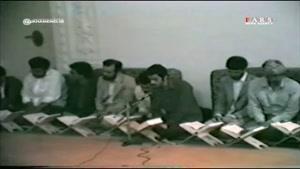 فیلم منتشرنشده از تلاوت استاد شهریار پرهیزکار در محضر رهبر انقلاب