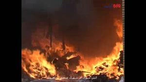 فیلم/ آتش سوزی در کارخانه تولید ظروف یکبار مصرف شاهرود