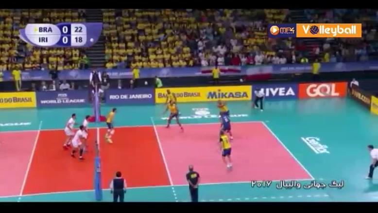 خلاصه والیبال برزیل 3-0 ایران (لیگ جهانی والیبال)