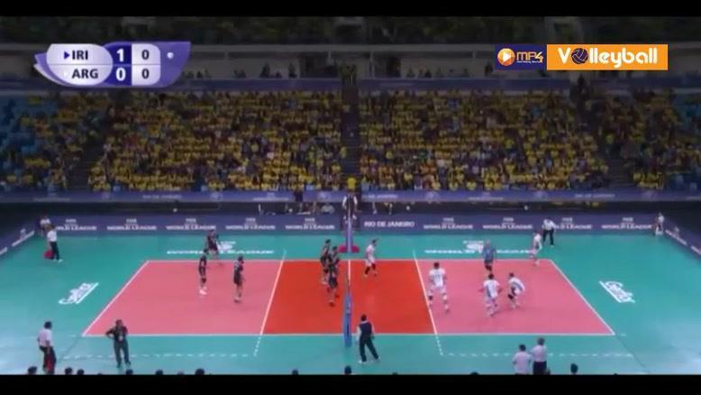 خلاصه والیبال ایران 3-2 آرژانتین (لیگ جهانی والیبال)