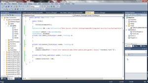 دستورات sql server ۲۰۰۸ و نحوه ثبت و حذف و یرایش -جستوجو-سی شارپ