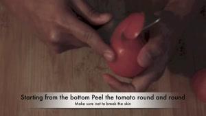 تزیین گوجه فرنگی به گل رز