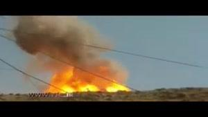 آتشسوزی در خط لوله پلی اتیلن پلدختر