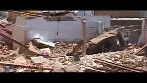 تخریب ساختمان مسکونی در اثر انفجار مهیب