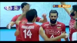 خلاصه والیبال ایران ۰-۳ ایتالیا