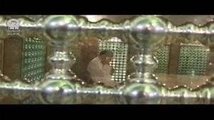 مراسم غبار روبی داخل ضریح حرم امام رضا(ع)