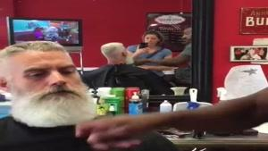 آموزش کوتاه کردن مو مدل آلمانی منطبق با ریش بلند
