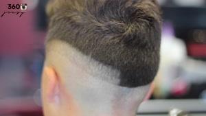 آموزش کوتاه کردن چند لایه دور سر با کوتاهی روی موی مدرن