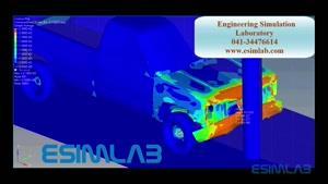 شبیه سازی برخورد خودرو- IMPACT SIMULATION - ABAQUS -ANSYS -AUTODYN-LS DYNA