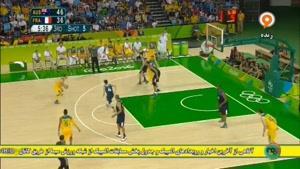 مسابقه بسکتبال فرانسه و استرالیا با برتری تیم استرالیا