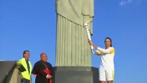 مشعل المپیک ریو به مجسمه کریستو ( مسیح ) رسید