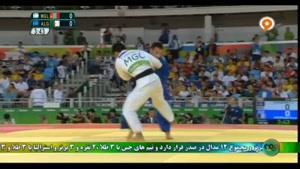 رقابت های جودو منفی ۶۶ کیلوگرم مردان مغولستان و الجزایر