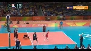 خلاصه والیبال کانادا ۰-۳ روسیه