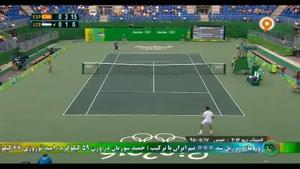 گزیده ای از رقابت تنیس داوید فرر - دنیس استامین