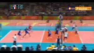 خلاصه والیبال آمریکا ۳-۱ فرانسه