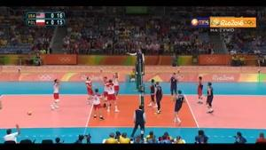 خلاصه والیبال آمریکا ۳-۰ لهستان