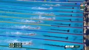 کسب مدال طلای شنای ۲۰۰ متر آزاد چین و مدال نقره آفریقای جنوبی و مدال برنز آمریکا در المپیک ریو ۲۰۱۶