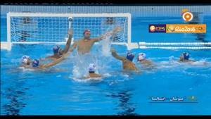 رقابت بسیار مهیج واترپلو نیمه نهایی ایتالیا و یونان