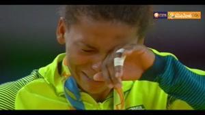 اشک های رافائلا بعد از کسب اولین مدال طلای برزیل