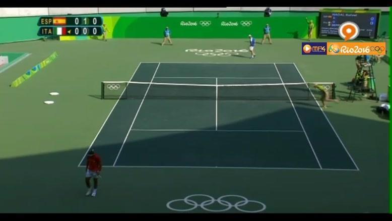 صحنه های زیبا به همراه موزیک زیبا از رقابت تنیس نادال و ایتالیا