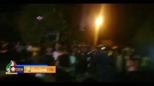 شادی مردم در مقابل منزل کیانوش رستمی پس از دریافت مدال طلا