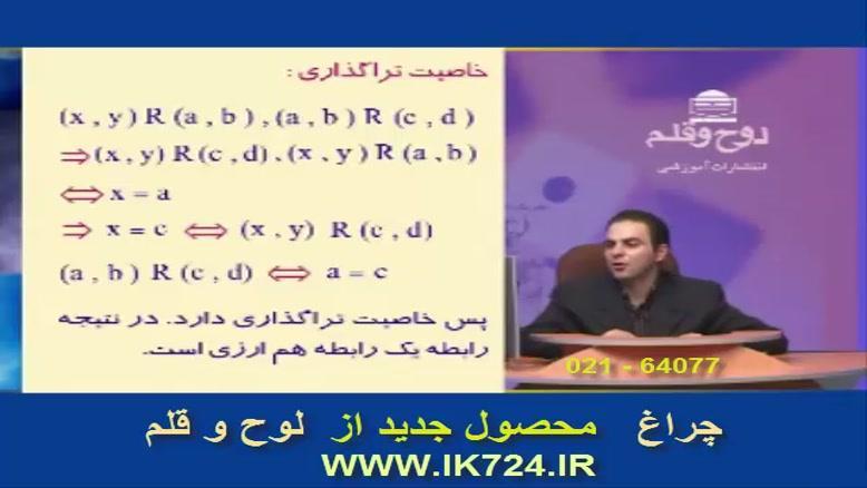 آموزش جبر و احتمالات ( تدریس مثال : رابطه ها )
