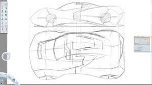 طراحی یک خودروی اسپورت مفهومی