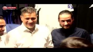 ویدیویی از مهمانی پرستاره علی دایی و همسرش: من و رضا گلزار رقابت نمی کنیم