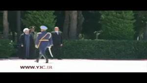 استقبال رسمی از رئیس جمهور در باکو