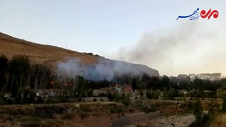 فیلم/ آتش سوزی باغ در بلوار چمران شیراز