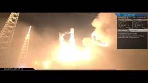 فیلم/ فرود موفقیت آمیز فالکون ۹ در اقیانوس