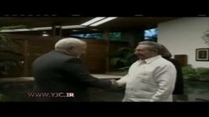 دیدار ظریف با رائول کاسترو