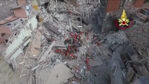 تصاویر هوایی از زلزله ایتالیا