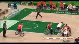 رقابت بسکتبال با ویلچر ایران ۶۲ - ۸۲ انگلستان