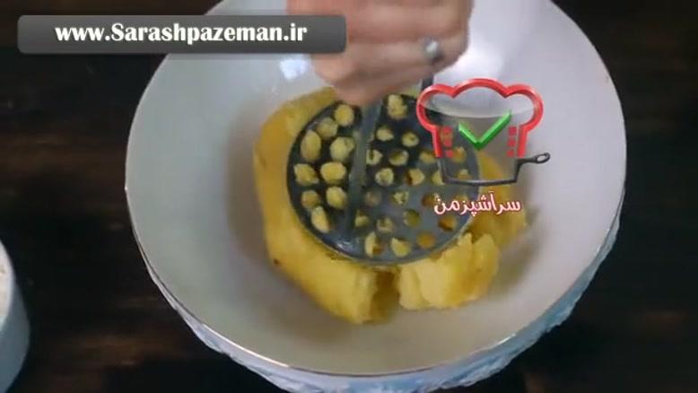 فیلم آشپزی - طرز تهیه سوفله سیب زمینی