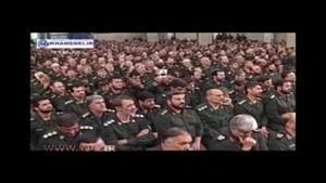 گریه تکان دهنده رهبر انقلاب و سردار سلیمانی از روضه مدافعان حرم