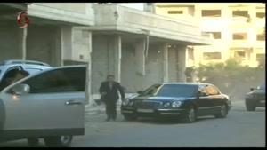 فیلم/حضور بشار اسد در مسجد دمشق برای اقامه نماز عید قربان