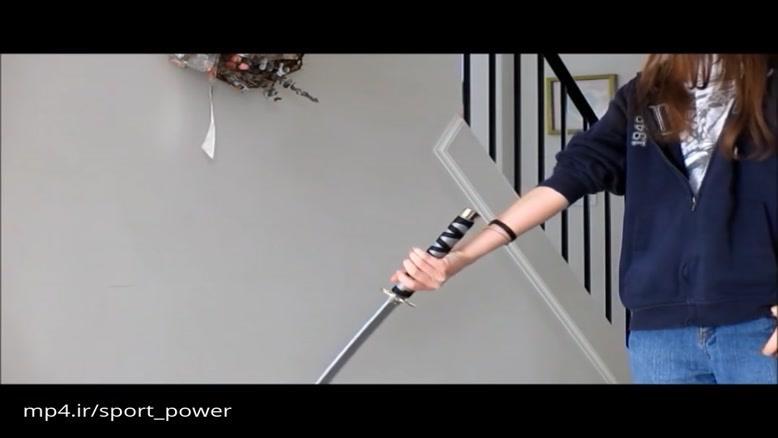 نحوه چرخاندن شمشیر از جلو