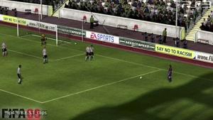 ضربه آزاد های لیونل مسی در بازی های فیفا