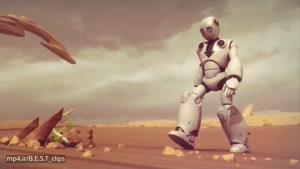 انیمیشن ربات تنها ۳d