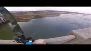 ماهیگیری با تیروکمان از ارتفاع چندین متری