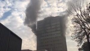 خبر فوری | ساختمان پلاسكو تهران آتش گرفت همین الان