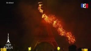 آتش بازی تحویل سال ۲۰۱۷ میلادی - فرانسه