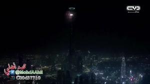 برج خلیفه دبی در سال نو میلادی