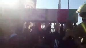 تشییع شهدای آتشنشان حادثه پلاسکو روی دوش آتش نشانان ۲