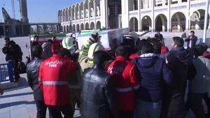 تشییع پیکر آتش نشانان حادثه پلاسکو در تهران
