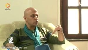 گفتگوی شنیدنی با اندیشه فولادوند در برنامه آپاراتچی/فعالیت هنری از طریق آشنایی با مسعود کیمیایی