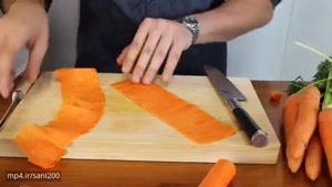 تزیینات غذا با خیار و هویج