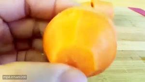 حکاکی میوه آرایی - هویج